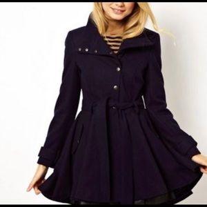 Black ASOS Skater Skirt Coat